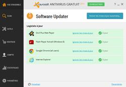 Avast Update de logiciel