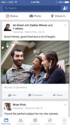 Facebook pour iOS