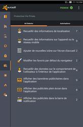 Avast pour Android vie privée
